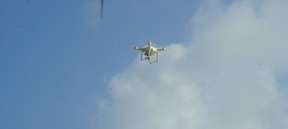 drone flying